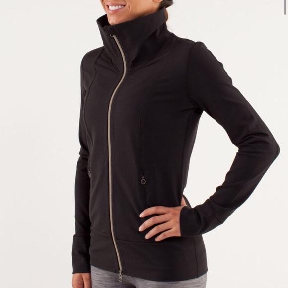 951f48a6c86 lululemon athletica Jackets & Blazers - Lululemon daily yoga jacket black  basic stretchy